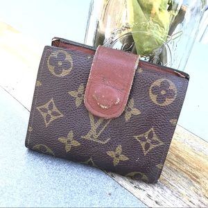 Louis Vuitton monogram USED small wallet Authentic